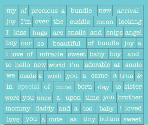 Cuddle Boy Petite Diction cardstock sticker