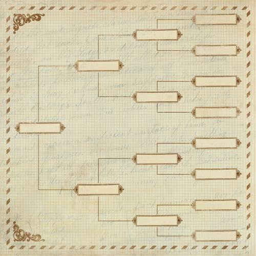 Lineage patterned paper