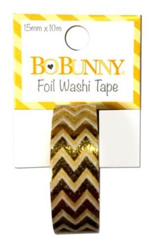 Gold Foil Chevron Washi Tape