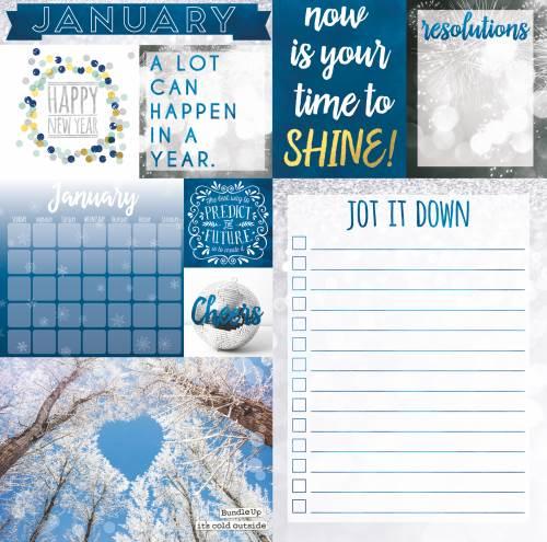 Calendar Girl January Paper