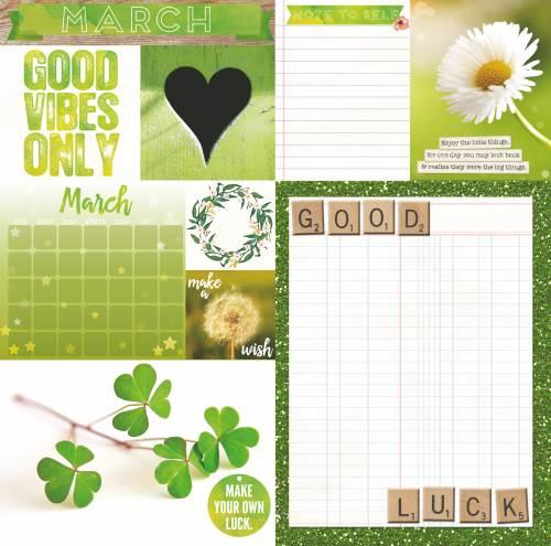 Calendar Girl March Paper