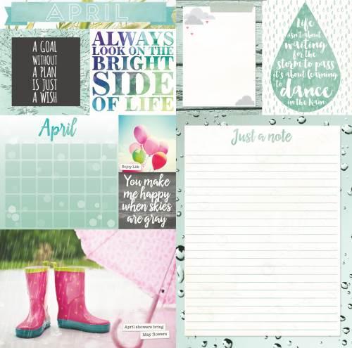 Calendar Girl April Paper