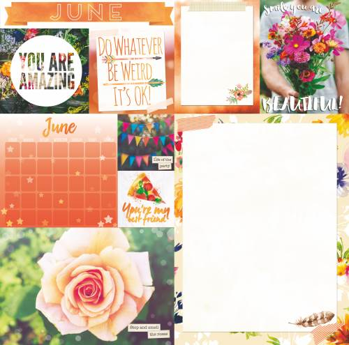 Calendar Girl June Paper