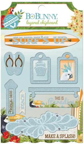 Beach Therapy Layered Chipboard