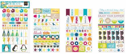 Make A Splash Clear Stickers