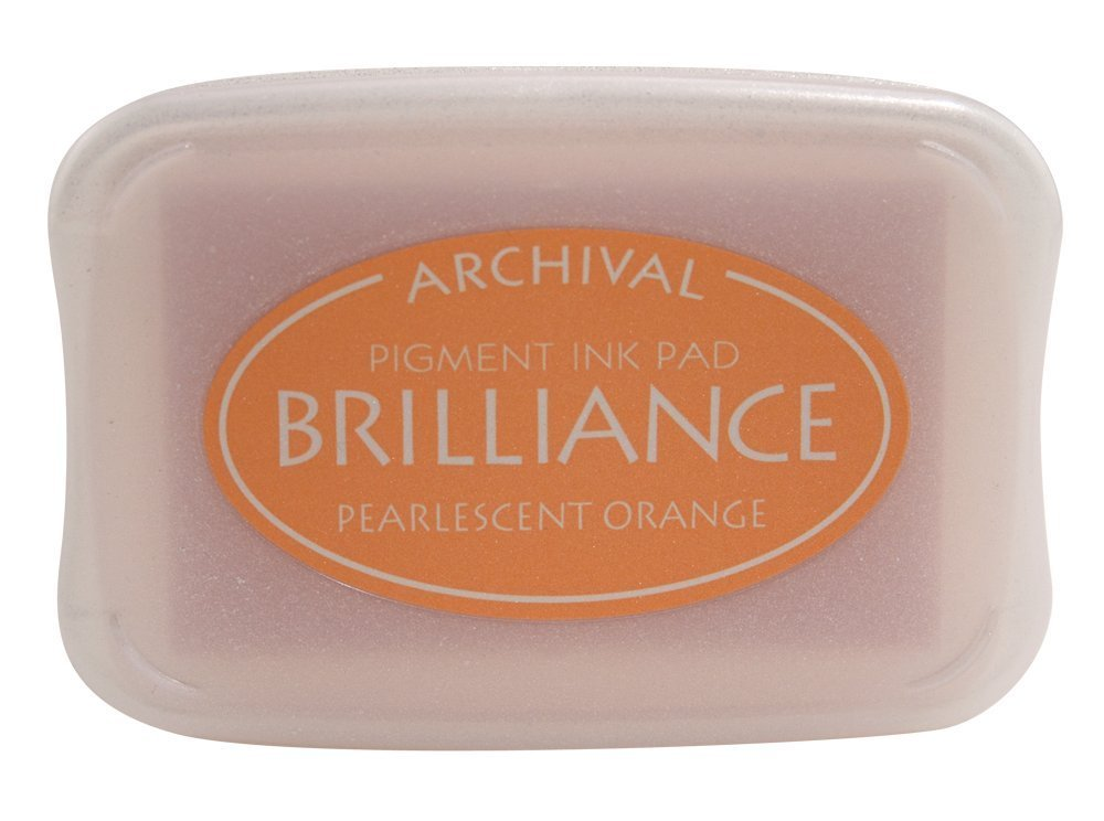 Pearlescent Orange Brilliance Ink Pad