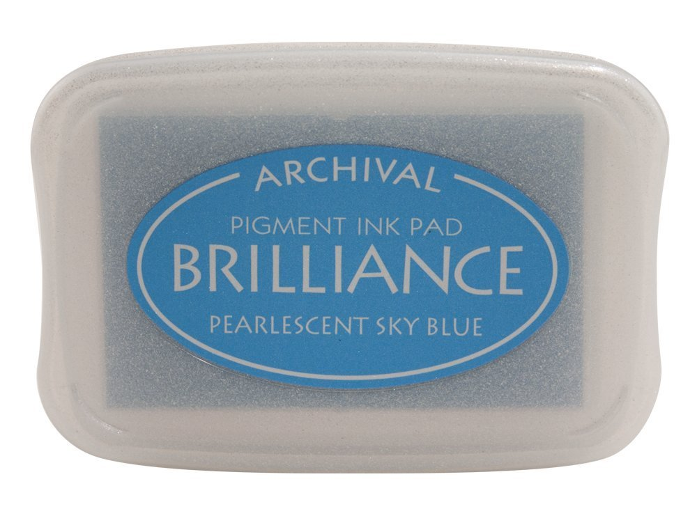Pearlescent Sky Blue Brilliance Ink Pad