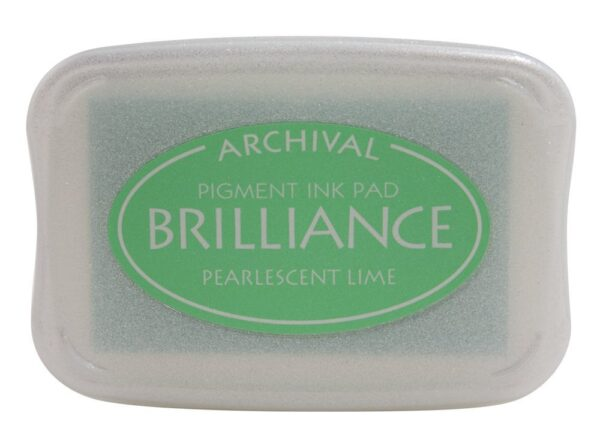 Pearlescent Lime Brilliance Ink Pad