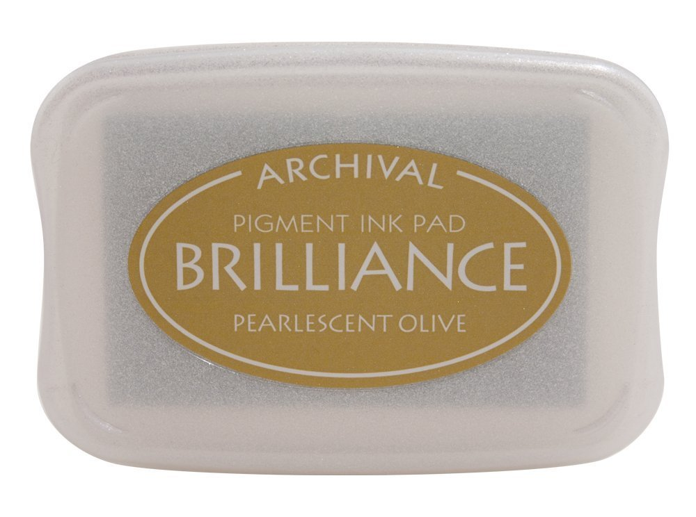 Pearlescent Olive Brilliance Ink Pad