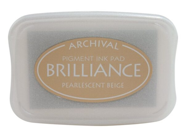 Pearlescent Beige Brilliance Ink Pad