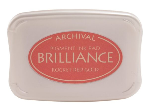 Rocket Red Gold Brilliance Ink Pad