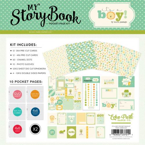 It's a Boy Pocket Page Kit