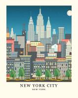 MG 11X14 New York Skyline Art Print