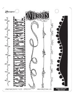 DYLUSION CLING STAMP - BORDERING ON THE EDGE
