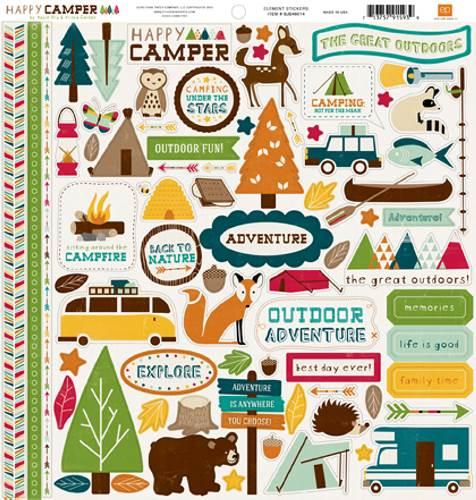 Happy Camper Element Sticker Sheet