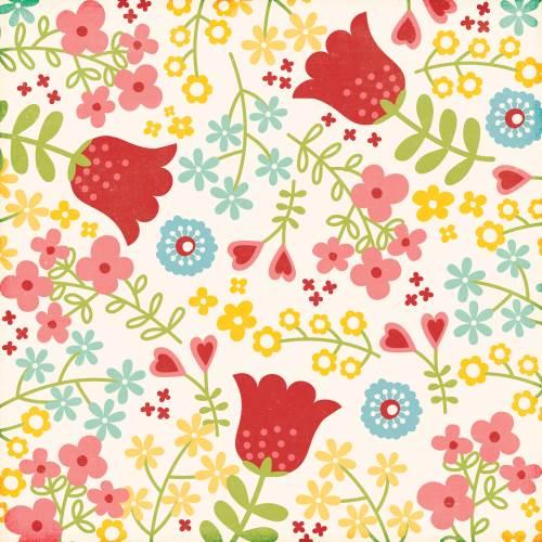 Happy Summer - Happy Flowers Paper