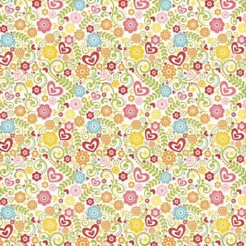 Happy Summer - Summer Blossoms Paper