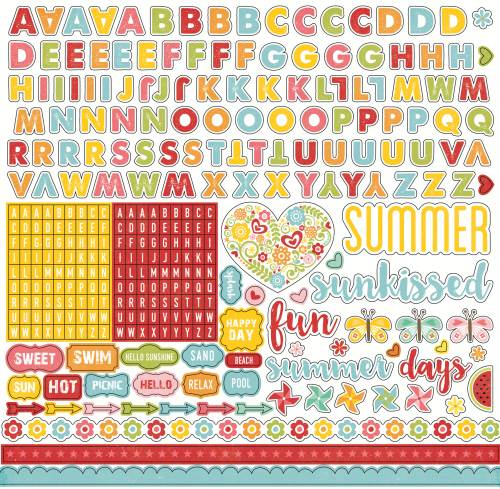 Happy Summer Alpha Sticker