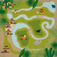 JS Jungle Map Paper