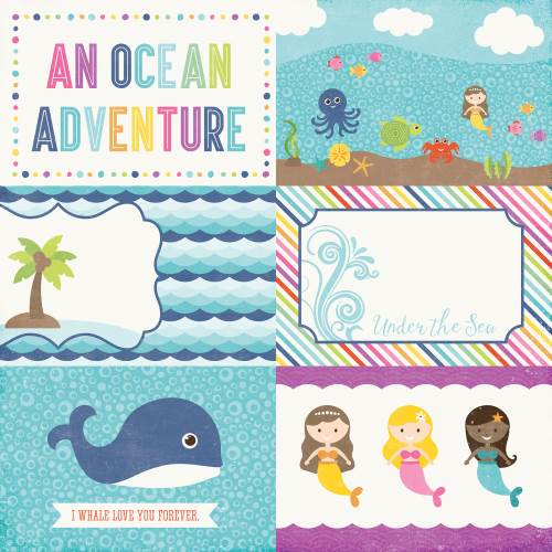 Let's Be Mermaids 4x6 Journaling Cards Paper