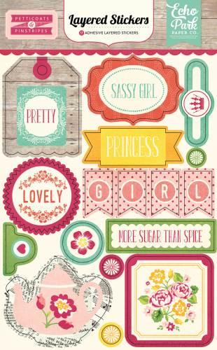 Petticoats Layered Stickers