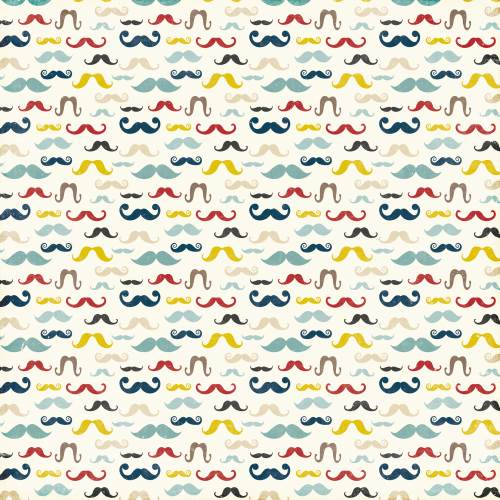 Pinstripes - Mustaches Paper
