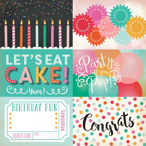 Party Time 4X6 Journaling Cards