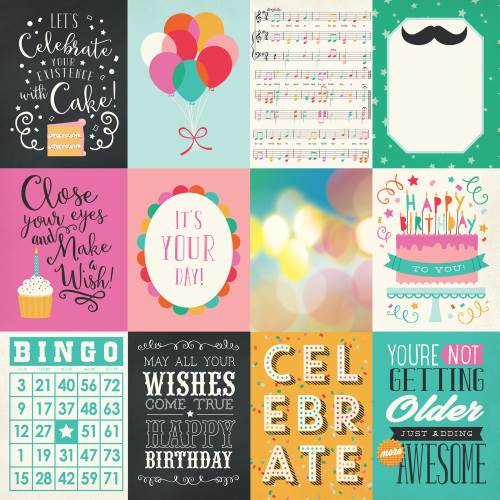 Party Time 3x4 Journaling Cards