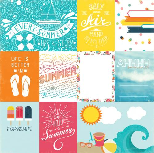 Summer Party - Journaling Cards Paper