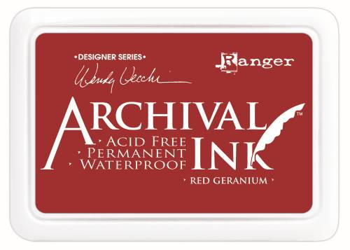 WV Archival Ink Pad - Red Geranium