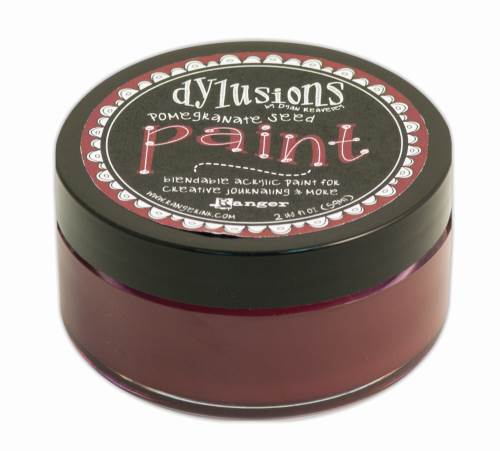 Pomegranate Seed Dylusions Paint