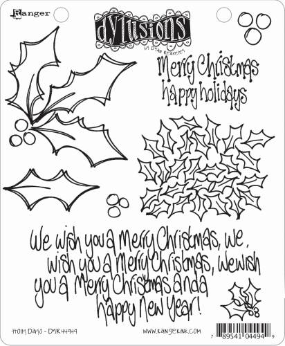 DYLUSION CLING STAMP - Holly Days