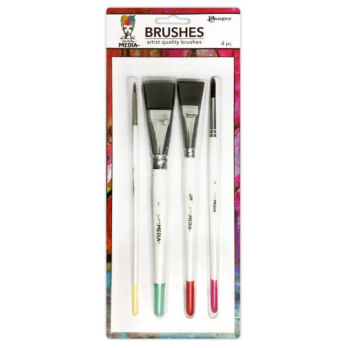 Dina Wakley Media Brushes - 4 Pack