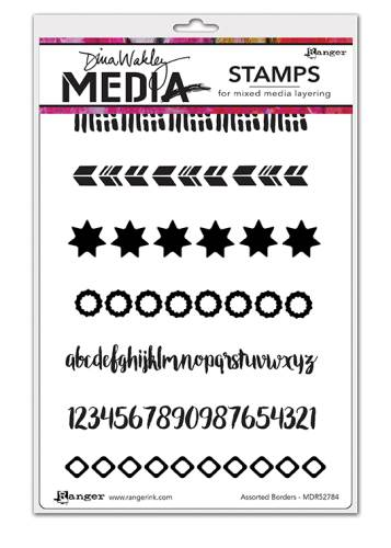 DW Assorted Borders Cling Stamps