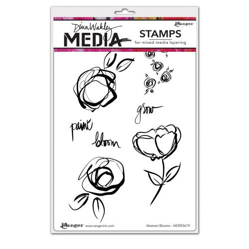 Abstract Blooms Dina Wakley Media Stamp