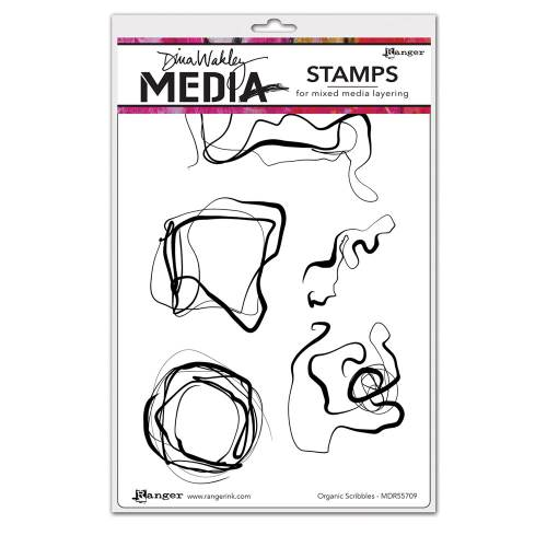 Organic Scribbles Dina Wakley Media Stamp