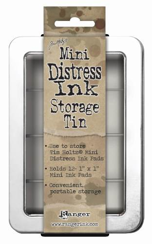 Distress Minis Storage Tin with Click-in tray