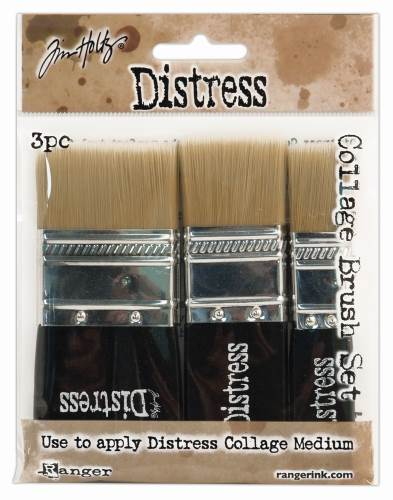 Tim Holtz Distress Collage Brush 3 Pack