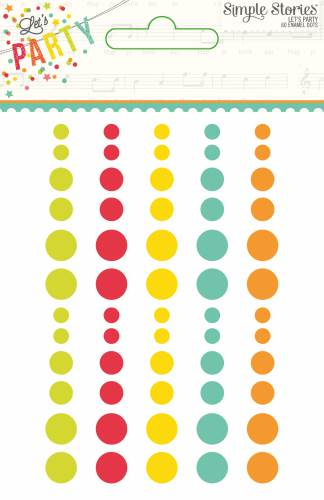 Let's Party Enamel Dots