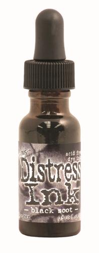 Black Soot 1/2 oz.Distress Ink Reinker