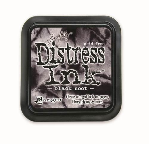 Black Soot 3x3 Distress Ink Pad