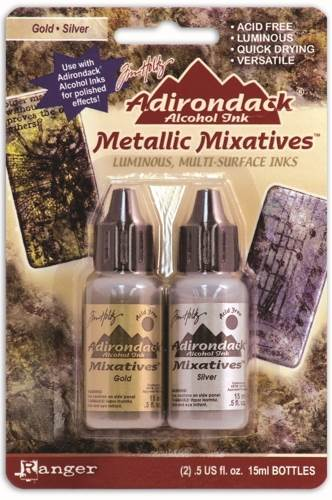 Alcohol Ink Metalic Mixative - Gold & Silver