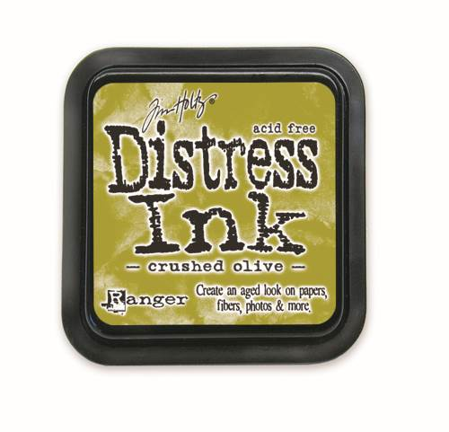 Crushed Olive 3x3 Distress Ink Pad