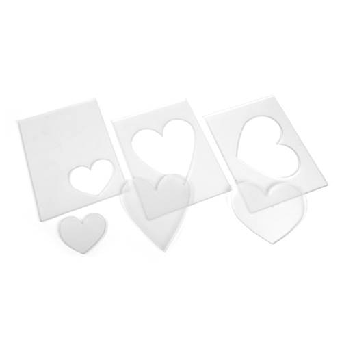 TH Sizzix Accessory - Embossing Diffuser 3pk, Set #3 (Hearts)
